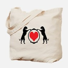 Tall Wolfhounds & Heart Tote Bag