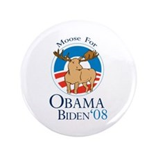 "Moose for Obama Biden 3.5"" Button"
