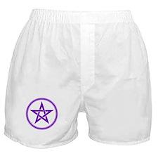 Purple Pentagram Boxer Shorts