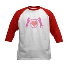 Pink Tall Wolfhounds & Heart Tee