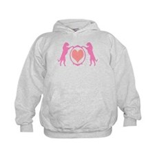 Pink Tall Wolfhounds & Heart Hoodie