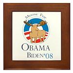Moose for Obama Biden Framed Tile