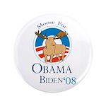 """Moose for Obama Biden 3.5"""" Button (100 pack)"""
