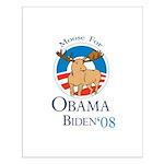Moose for Obama Biden Small Poster
