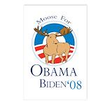 Moose for Obama Biden Postcards (Package of 8)