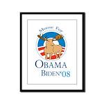 Moose for Obama Biden Framed Panel Print