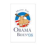 Moose for Obama Biden Mini Poster Print