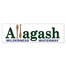 Allagash Wilderness Waterway Bumper Bumper Bumper Sticker