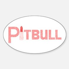 Palin Pitbull with Lipstick Retro Oval Decal