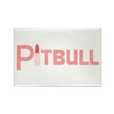 Palin Pitbull with Lipstick Retro Rectangle Magnet