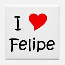 Cute Felipe Tile Coaster