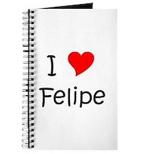 Cute I love felipe Journal