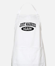 Just Married Again BBQ Apron