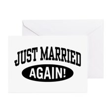 Just Married Again Greeting Cards (Pk of 10)