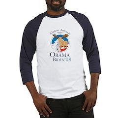 Alaskan Animals for Obama Bid Baseball Jersey