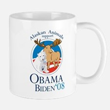 Alaskan Animals for Obama Bid Mug