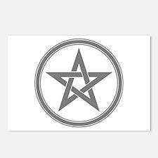 Grey Pentagram Postcards (Package of 8)