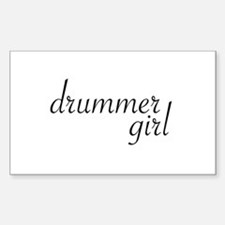Drummer Girl Rectangle Decal