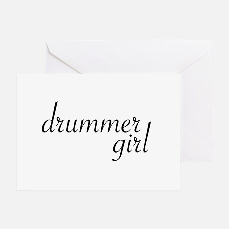 Drummer Girl Greeting Card