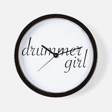 Drummer Girl Wall Clock