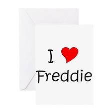 Funny I love freddy Greeting Card