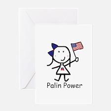Republican - Palin Power Greeting Card
