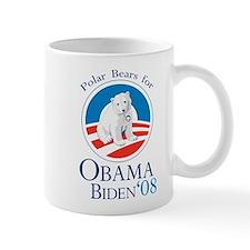Polar Bears for Obama Biden Mug