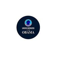 Union Workers Obama Mini Button (10 pack)