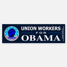 Union Workers Obama Bumper Bumper Bumper Sticker