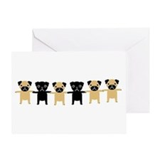 StringOPugs Greeting Card