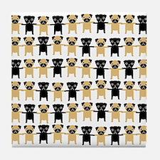 StringOPugs Tile Coaster