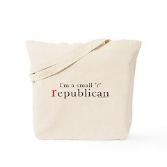 Small r republican Tote Bag