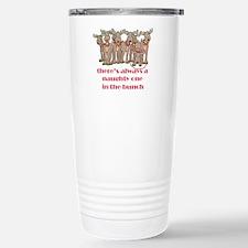Naughty Reindeer Stainless Steel Travel Mug