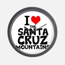 I Love The Santa Cruz Mountains Wall Clock