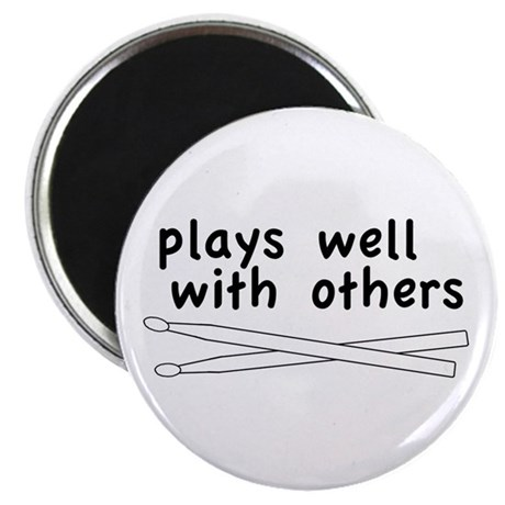 Plays Well (Drums) Magnet