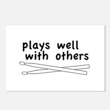 Plays Well (Drums) Postcards (Package of 8)