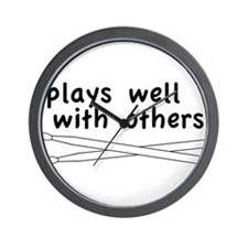 Plays Well (Drums) Wall Clock