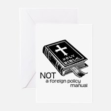 Not a Foreign Policy Manual Greeting Cards (Pk of