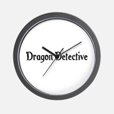 Dragon Detective Wall Clock