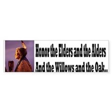 Honor the Elders Bumper Sticker