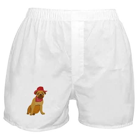 Cowboy Pug Boxer Shorts
