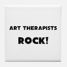 Art Therapists ROCK Tile Coaster