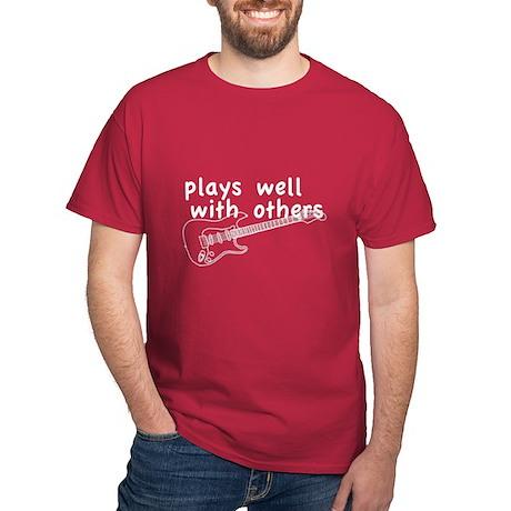 Plays Well (Guitar) Dark T-Shirt