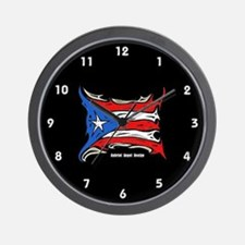 Puerto Rico Heat Flag Wall Clock