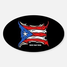 Puerto Rico Heat Flag Oval Decal