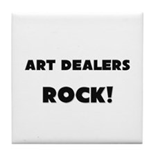 Art Dealers ROCK Tile Coaster