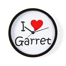 Unique I love garret Wall Clock