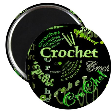 "Crochet Green 2.25"" Magnet (100 pack)"
