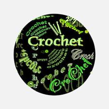 """Crochet Green 3.5"""" Button"""