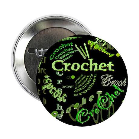 """Crochet Green 2.25"""" Button (10 pack)"""